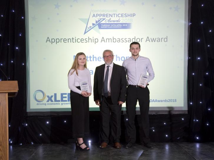 BLOG: Why we're sponsoring the Apprenticeship Ambassador of the Year Award at the Oxfordshire Apprenticeship Awards