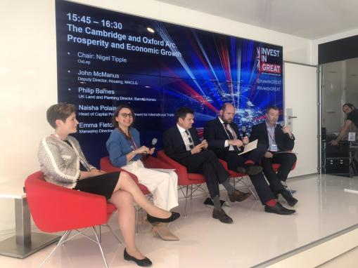 Oxford-Cambridge Arc opportunities receives global exposure at MIPIM