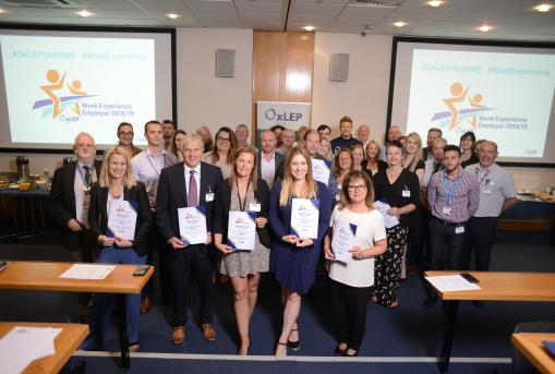 Oxfordshire businesses recognised for commitment to inspiring young people through top-class work experience placements