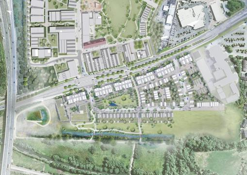Public views sought for sustainable new homes and public park emerging plans at Oxford North's Canalside
