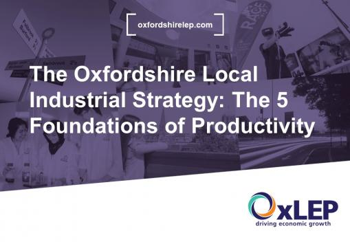 VLOG: The Oxfordshire Local Industrial Strategy - The 5 Foundations of Productivity
