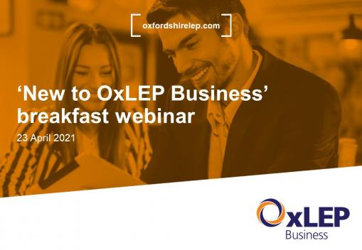 Businesses from across the county enjoy a 'breakfast' with a difference – 'New to OxLEP Business' webinar
